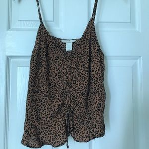 Cheetah Print Tank Top